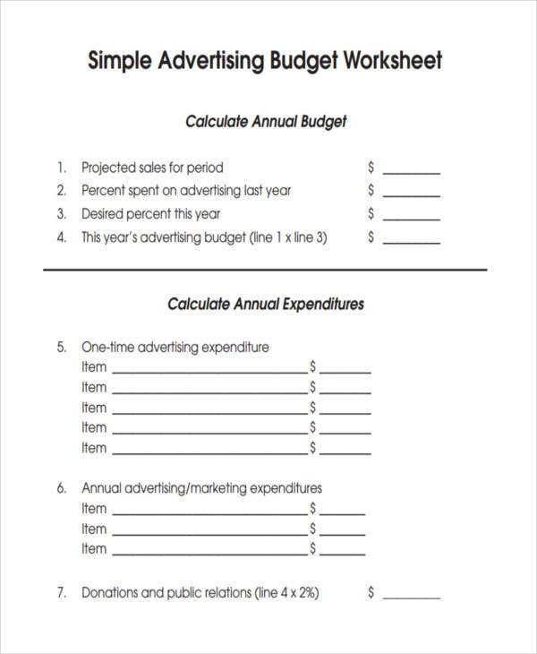 budget for small business advertising