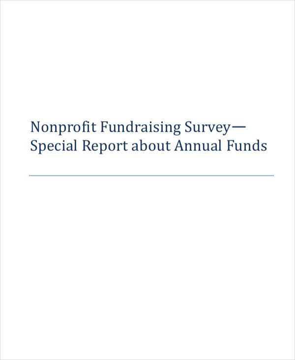 budget of non profit fundraising