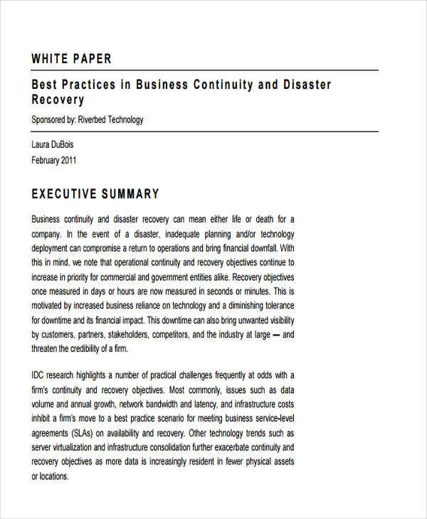 business continuity white paper2