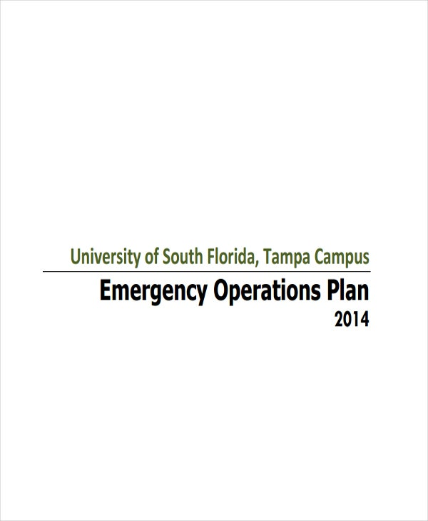 business emergency operations plan