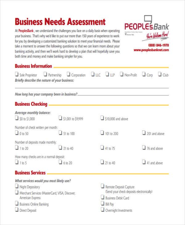Business needs template 28 images 32 free needs for Financial assessment template