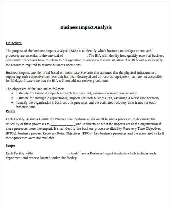 business impact analysis1