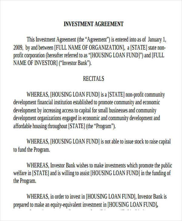 20 loan agreement formats free premium templates business investment agreement accmission