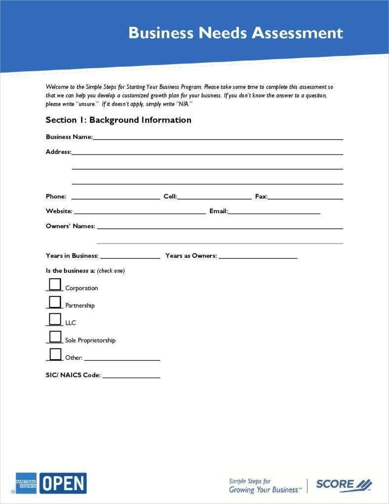 business-needs-assessment-template