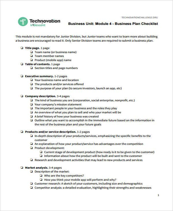 Business checklist templates 10 free word pdf format download business plan checklist flashek