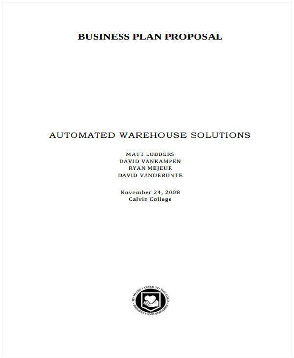 business plan proposal