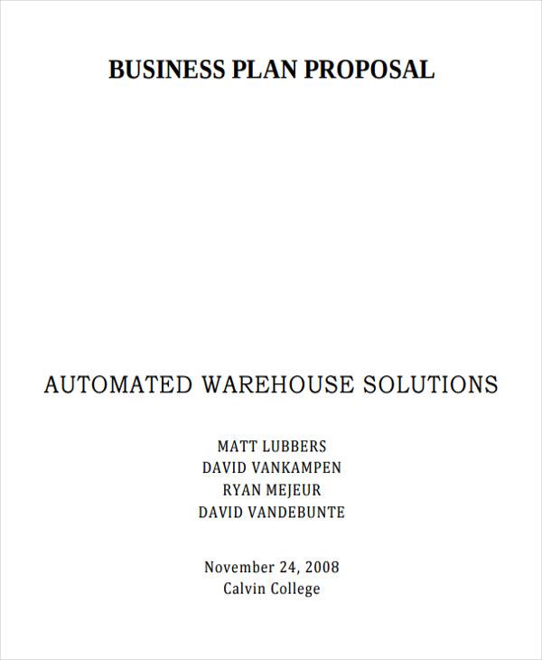 business plan proposal1