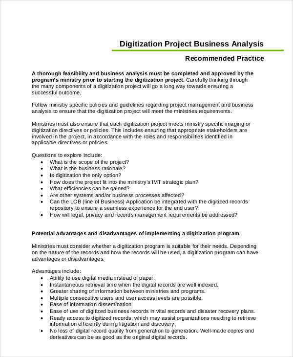 business project analysis