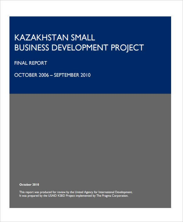 business project final report