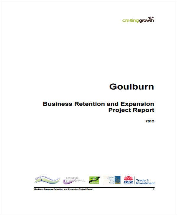 business retention project report