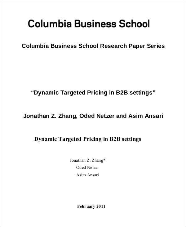 Business School Research Paper