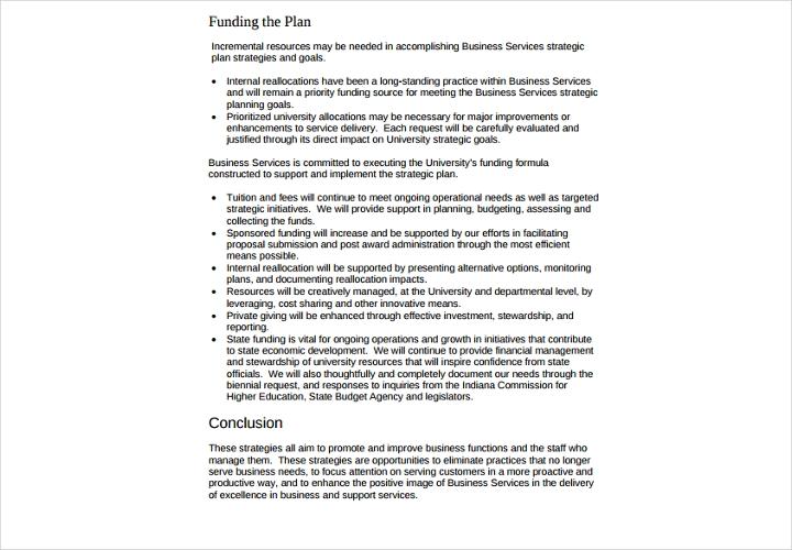business service strategic plan