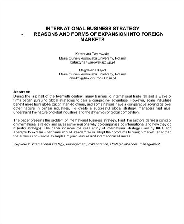 6 strategy paper templates free samples examples format business strategy paper accmission
