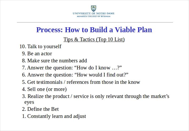business viable plan