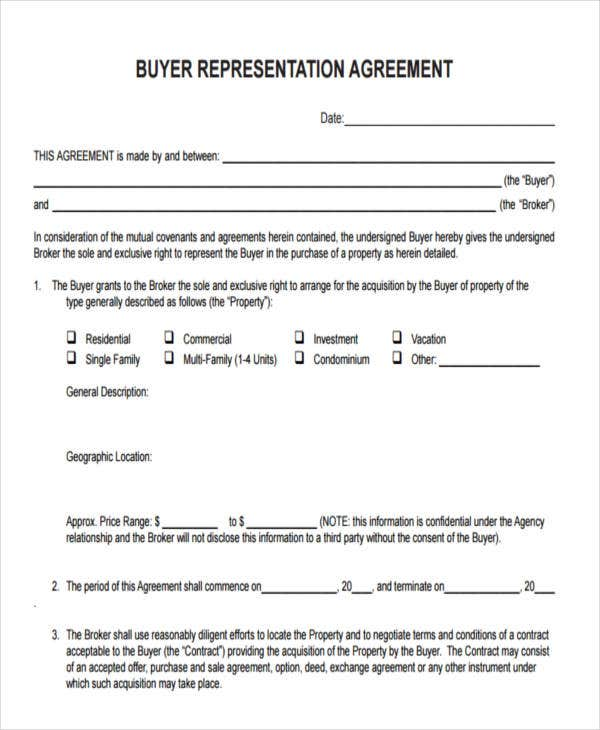 Buyers Agreement Choice Image Agreement Letter Format