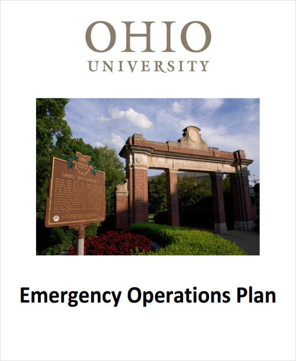 campus emergency operations plan