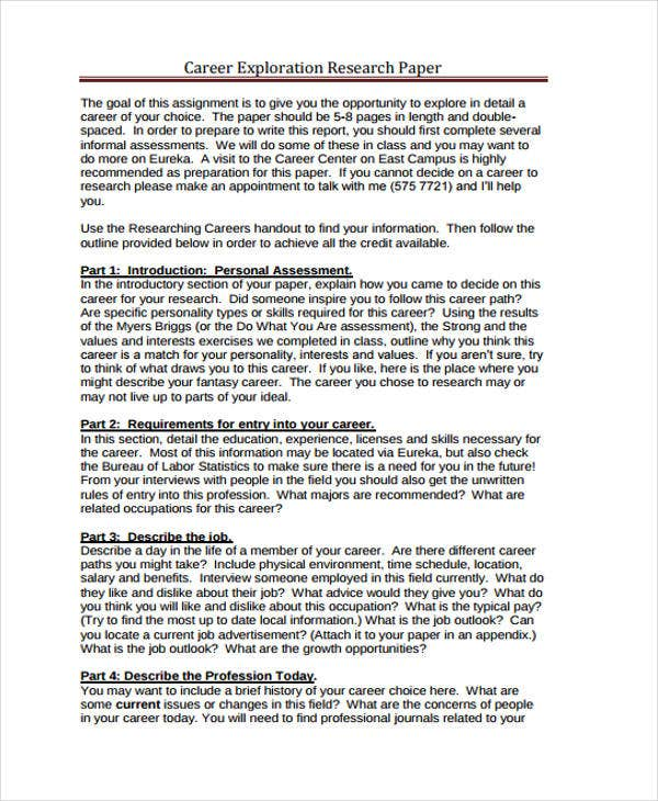career assessment paper You can take this assessment and view a brief report for free for more comprehensive and personalized career planning advice, you can upgrade to a premium report for $19.