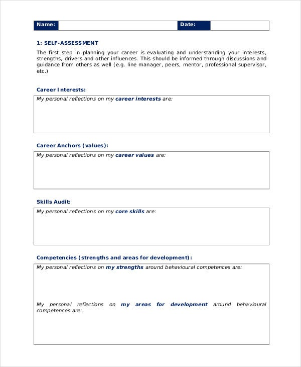 10 Personal Development Plan Templates -Free Sample, Example Format ...