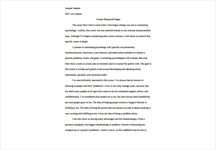 career research paper1