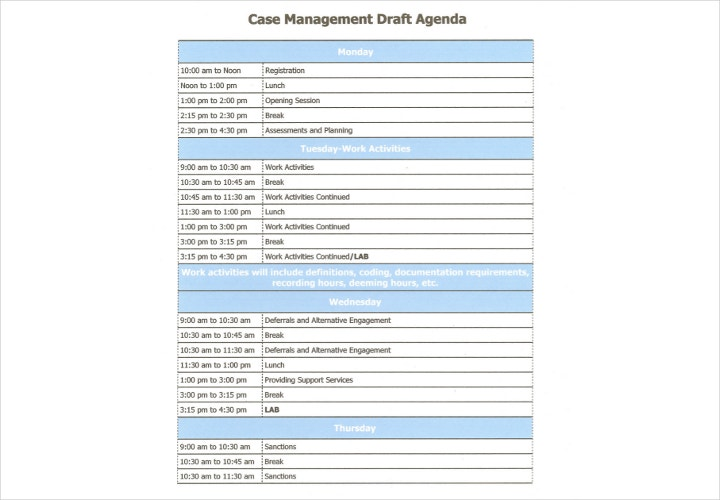 case management draft