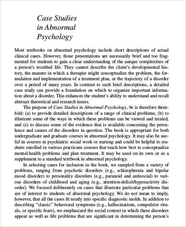 history of abnormal psychology essay Quick answer a person who chooses to eat meat in a vegetarian community is behaving abnormally abnormal behavior goes against or is opposite to the behavior of the average individual.