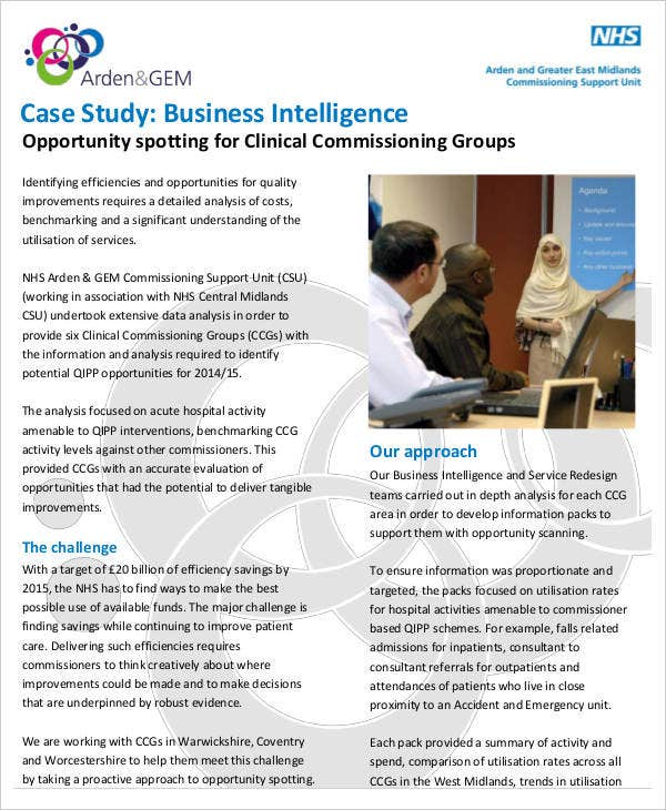bi case study Read and watch bi software use cases from software vendors, resellers and end- users from a wide range of sectors including finance and education.
