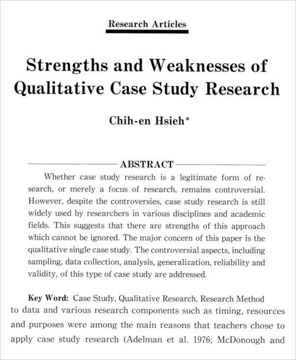 Case Study of Qualitative Research