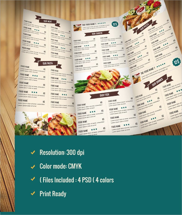 catering menu template sample download1
