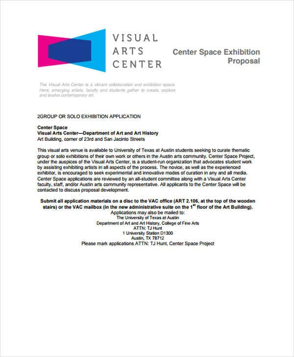 center space exhibition proposal