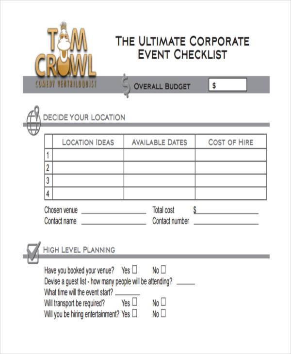 36 Printable Checklist Templates | Free & Premium Templates