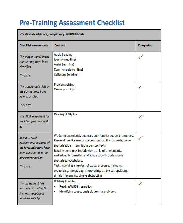 training checklist template printable get home inteiror house
