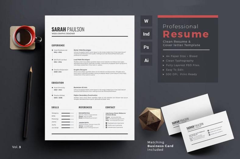 clean resume word 788x524