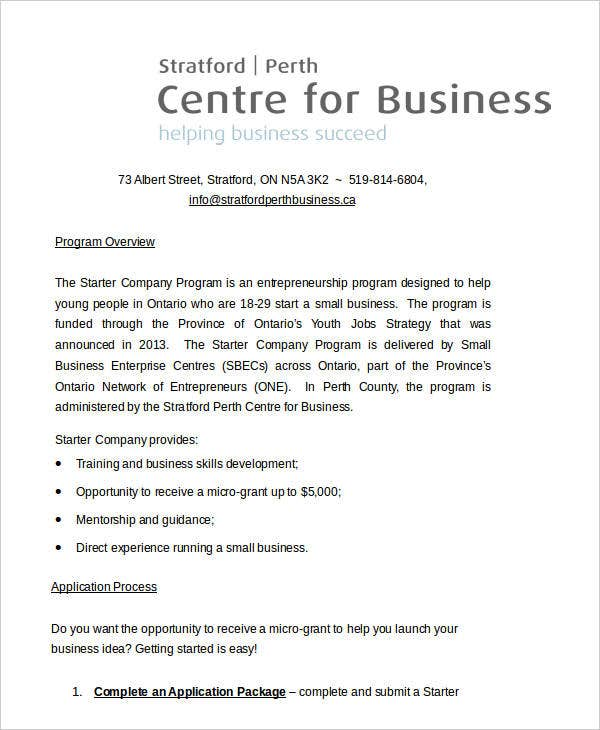 Client Business Concept Paper