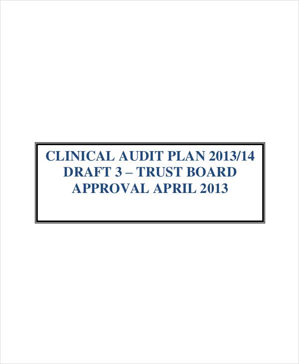 clinical audit plan