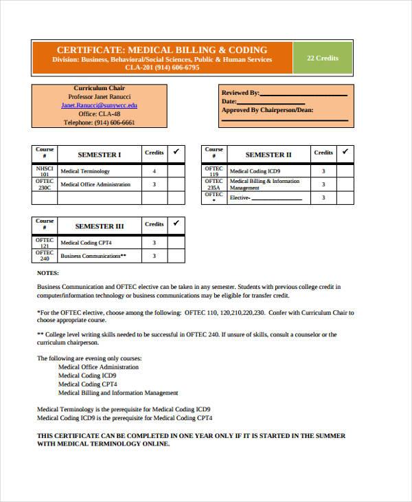 coding billing certificate