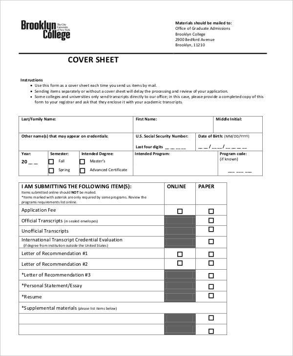 college cover sheet1
