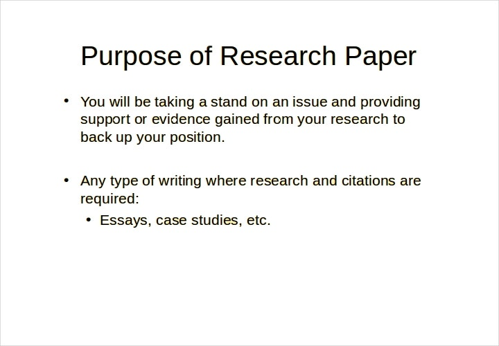 college research paper presentation