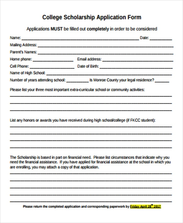Fine college application form template pictures resume ideas 48 application form templates free premium templates altavistaventures Gallery