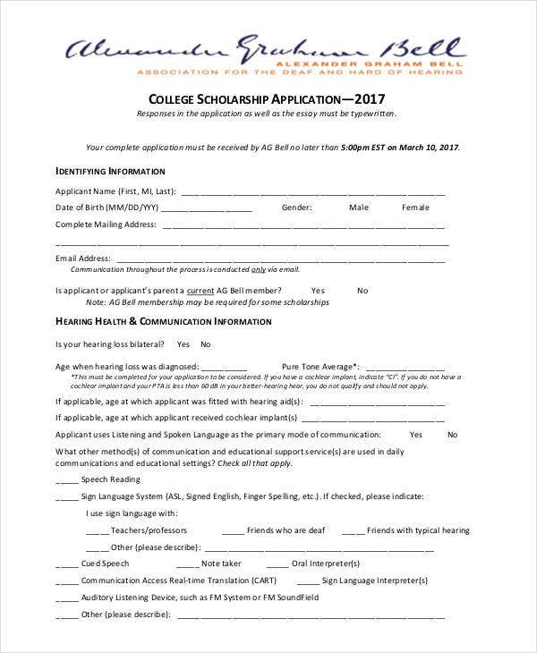 college scholarship application1
