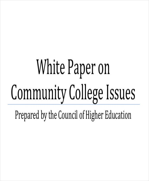 community college white paper