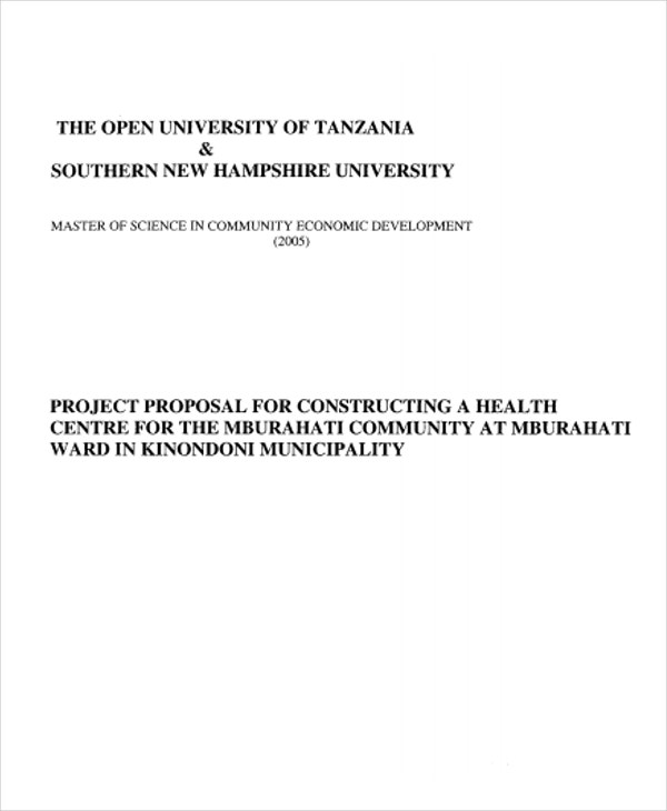 community health project proposal