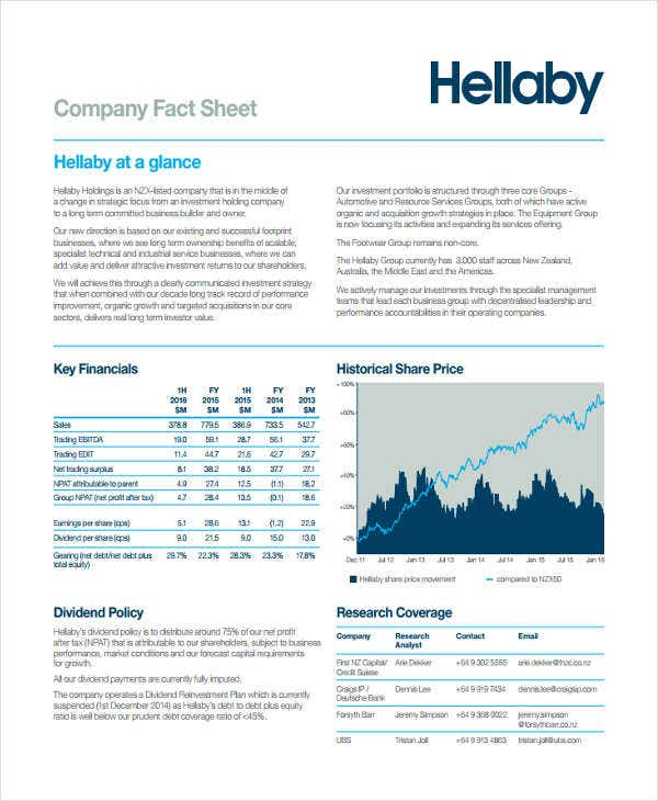 company fact sheet1