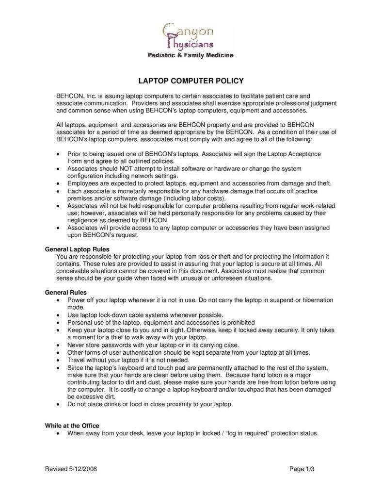 10 sample company policy templates free premium templates for Policy and procedure document template