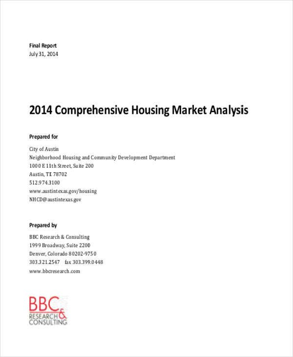 Sample Real Estate Market Analysis Template - 5+ Free Download For ...