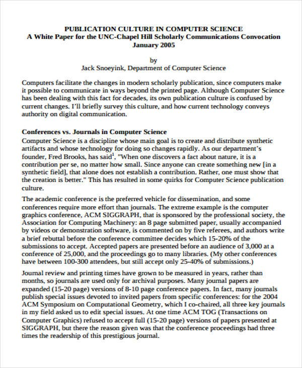 computer science white paper
