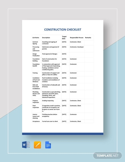construction checklist template2