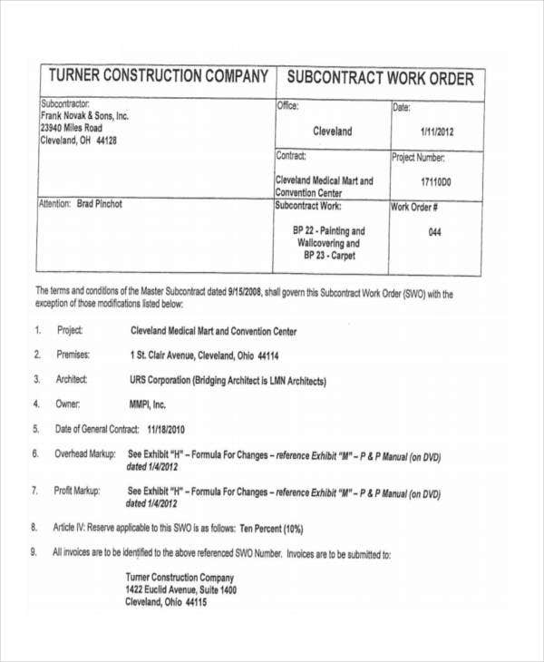 construction company work order1
