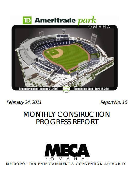 construction monthly progress report