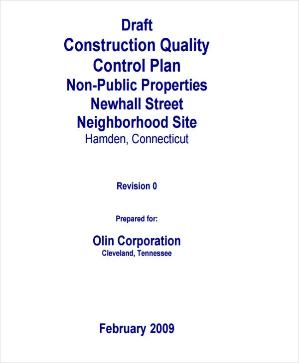 construction quality management plan