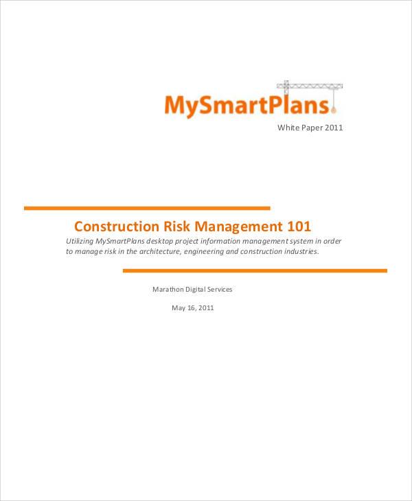construction risk management plan